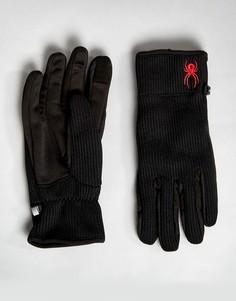Перчатки на флисовой подкладке Spyder - Черный