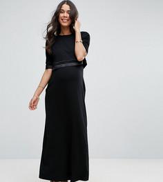 Двухслойное платье макси для кормящих мам ASOS Maternity NURSING - Черный