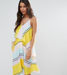 Платье миди в полоску с кроп-топом ASOS Maternity - Мульти