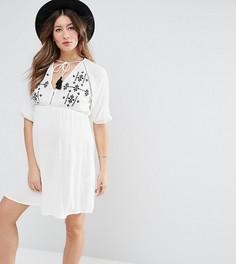 Пляжное платье с вышивкой ASOS Maternity - Белый