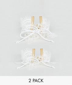Набор из 2 кружевных браслетов - Белый Asos