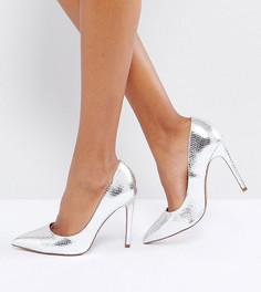 Туфли на высоком каблуке с острым носом ASOS PARIS - Серебряный