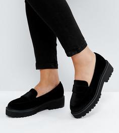Туфли на плоской подошве для широкой стопы ASOS MILKSHAKE - Черный