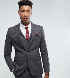 Серый облегающий пиджак Harry Brown TALL - Серый