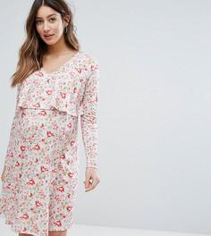 Двухслойное платье для кормления с цветочным принтом Bluebelle Maternity - Мульти