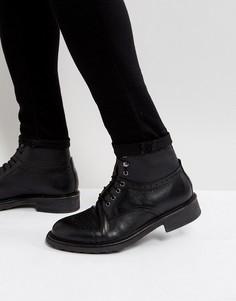 Кожаные броги на шнуровке Hudson London Fernie - Черный