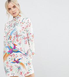 Платье мини с вышивкой ASOS PETITE - Мульти