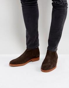 Коричневые замшевые ботинки челси Hudson London Tonti - Коричневый