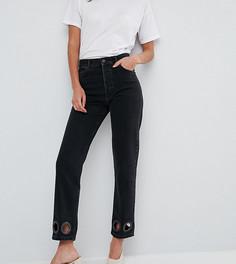 Черные прямые джинсы с большими заклепками ASOS TALL FLORENCE - Черный