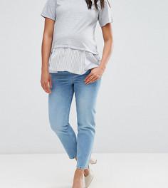 Прямые джинсы с посадкой под животом ASOS MATERNITY FLORENCE - Синий