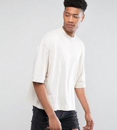 Оверсайз-футболка из плотной ткани ASOS TALL - Бежевый