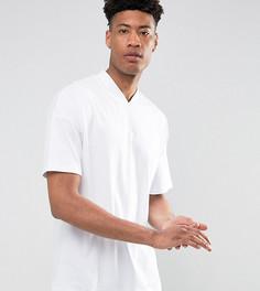Белая оверсайз-футболка с V-образным вырезом ASOS TALL - Белый