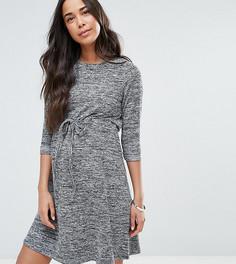 Домашнее меланжевое платье для беременных со шнурком ASOS Maternity - Серый