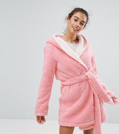 Халат с ушками ASOS PETITE Fluffy Cloud - Розовый