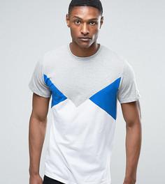 Серая футболка со вставками в стиле колор блок Jacamo TALL - Серый