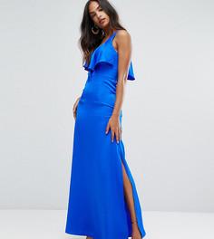 Платье макси на бретельках с оборкой Bariano - Синий