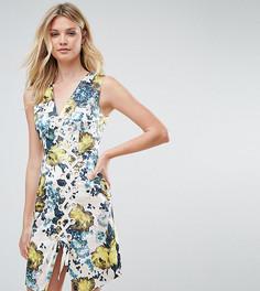 Жаккардовое платье мини со шнуровкой ASOS TALL - Мульти