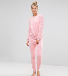 Розовый пушистый комбинезон ASOS TALL - Розовый