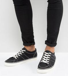 Черные парусиновые кроссовки для широкой стопы ASOS - Черный