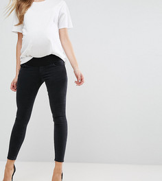 Черные выбеленные джинсы скинни с посадкой под животом ASOS MATERNITY RIDLEY - Черный