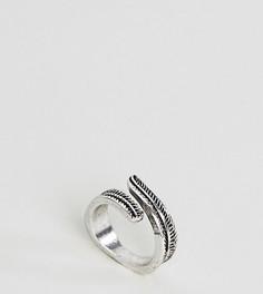 Кольцо в виде перьев крыла ASOS - Серебряный