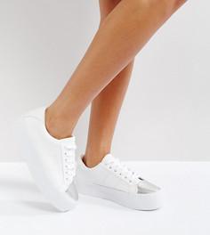 Кроссовки на шнуровке ASOS DUTY - Белый