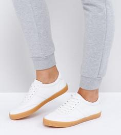 Полосатые кроссовки со шнурками ASOS DELPHINE - Белый