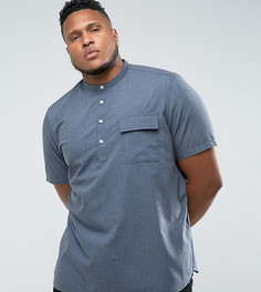 Темно-синяя рубашка классического кроя с воротником на пуговице ASOS PLUS - Темно-синий