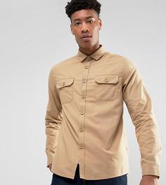 Рубашка на выпуск с карманами ASOS TALL - Светло-серый