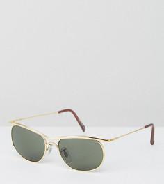 Золотистые квадратные солнцезащитные очки Reclaimed Vintage эксклюзивно для ASOS - Золотой