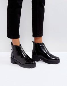 Ботинки с молниями Truffle Collection - Черный