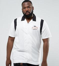 Рубашка классического кроя из вискозы с вышивкой ASOS PLUS - Белый