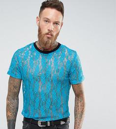 Синяя кружевная футболка Reclaimed Vintage Inspired - Синий