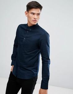 Хлопковая оксфордская рубашка D-Struct - Темно-синий