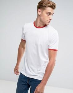 Облегающая футболка с контрастной отделкой D-Struct - Белый
