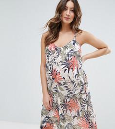 Платье без рукавов с принтом пальм Mamalicious - Мульти Mama.Licious