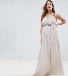 Платье макси Mamalicious Premium - Серый Mama.Licious