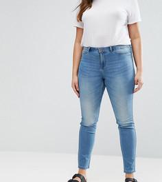 Выбеленные джинсы слим Junarose - Синий