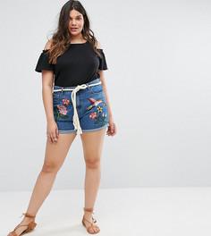Джинсовые шорты с вышивкой Alice & You - Синий