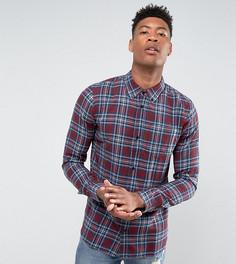Фланелевая рубашка в клетку D-Struct TALL - Красный