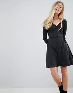 Трикотажное платье с запахом Brave Soul - Серый