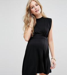 Платье мини с вырезом под горло ASOS Maternity TALL Nursing - Черный