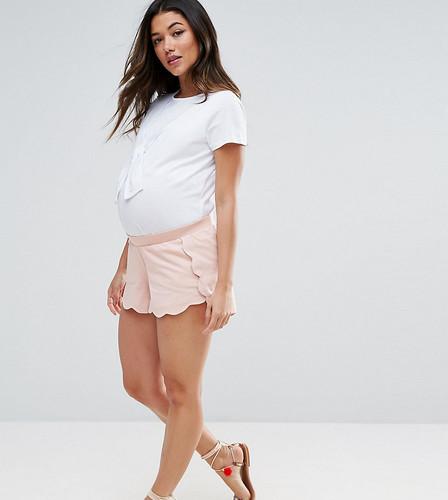 Шорты с фигурным краем ASOS Maternity PETITE - Розовый