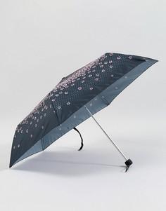 Зонт Fulton Superslim 2 Raining Roses - Черный