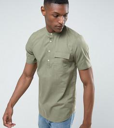 Рубашка цвета хаки классического кроя с воротником на пуговице ASOS TALL - Зеленый