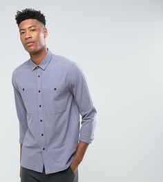 Голубая фактурная рубашка ASOS TALL - Синий