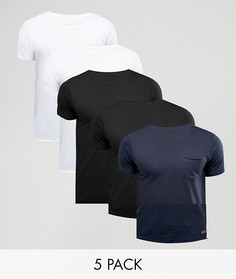5 футболок Brave Soul - Мульти