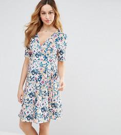Чайное платье с запахом и цветочным принтом ASOS Maternity NURSING - Мульти