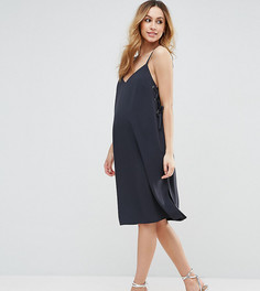 Платье миди на бретелях с люверсами ASOS Maternity - Серый