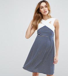 Приталенное платье мини в полоску ASOS Maternity PETITE - Мульти